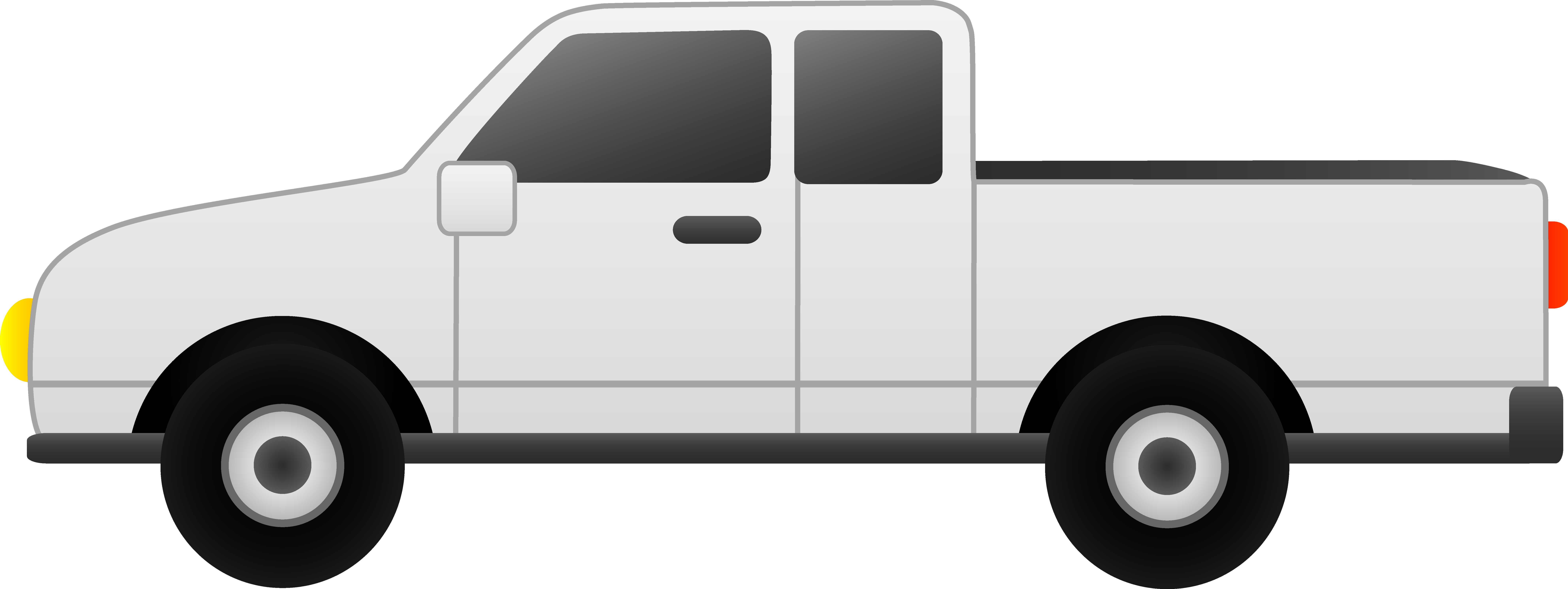 Pickup clipart yellow truck. Transparent background huge