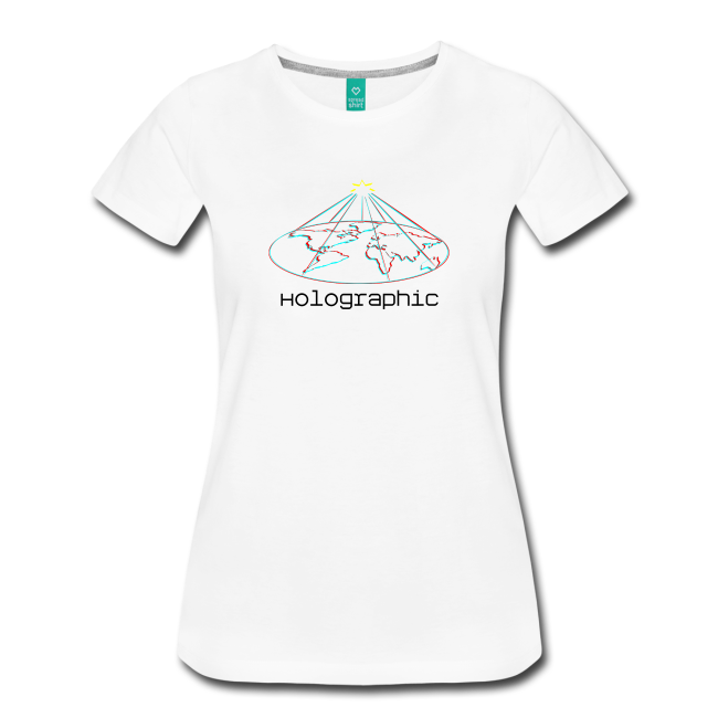 Transparent tshirt holographic. Staind shirt earth women