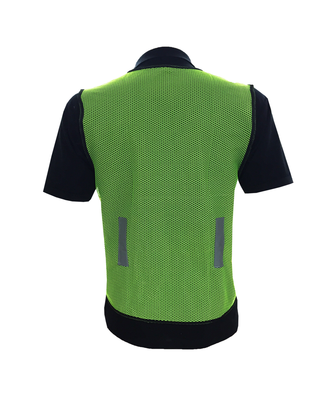 Transparent tshirt netted. Safety vest netting lime