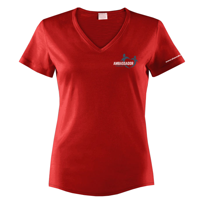 Transparent tshirt v neck. Women s ambassador of