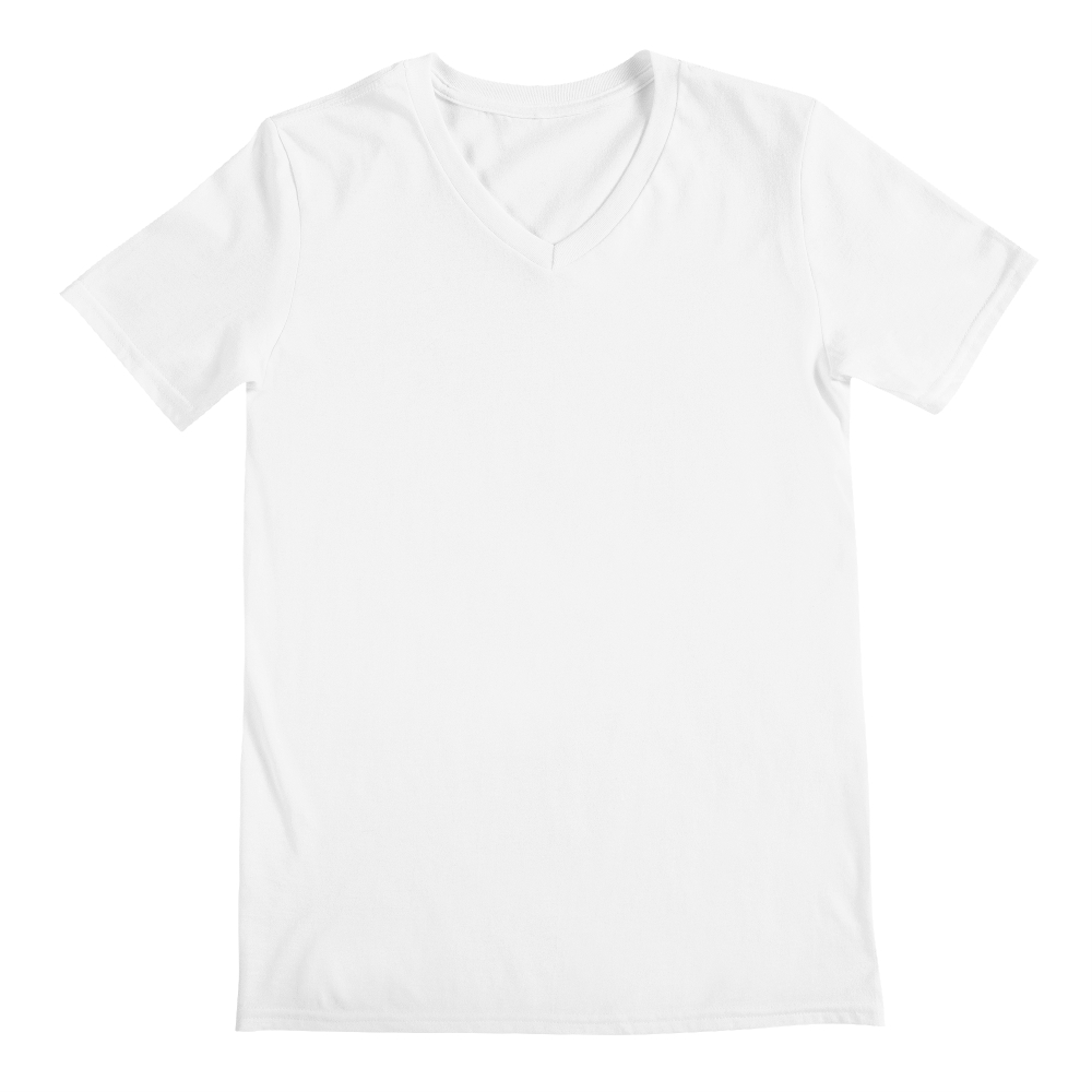 Transparent tshirt v neck. Men s custom printed