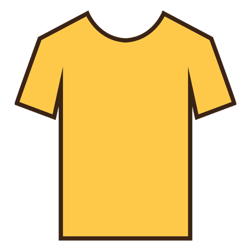 Transparent tshirt yellow. Stroke clothes png svg