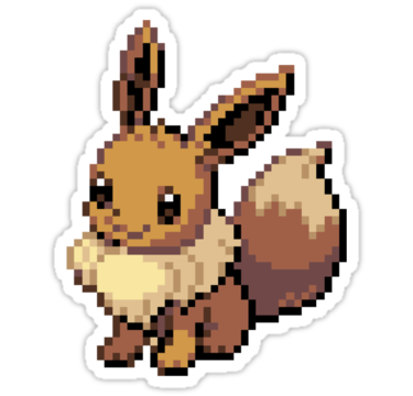 Transparent espeon 8 bit. Eevee by lith um