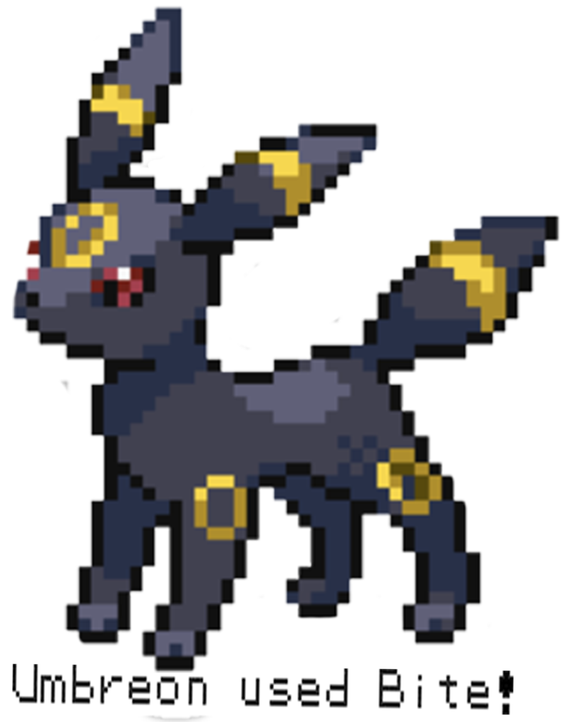 Transparent umbreon 8 bit. By urianity on