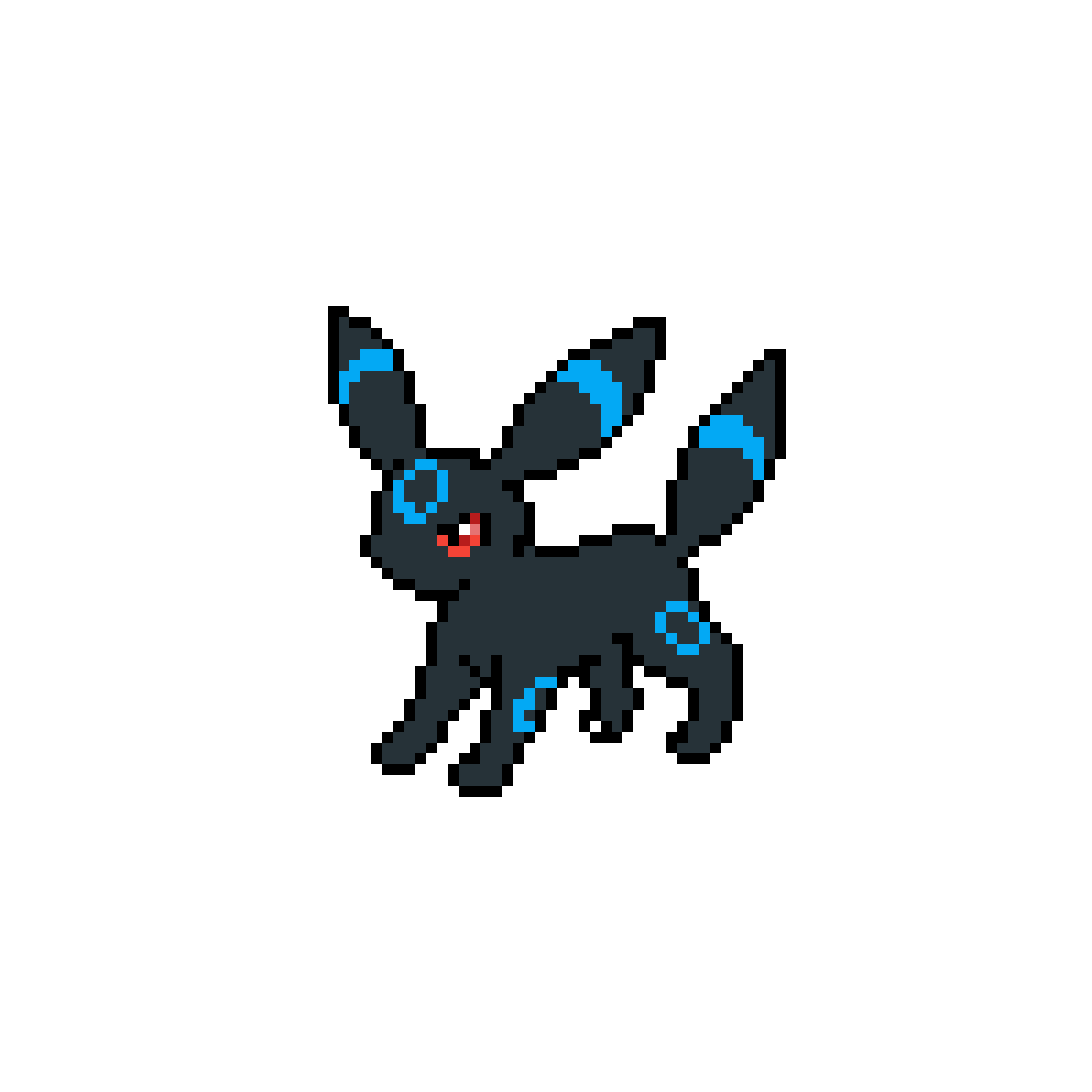 Transparent umbreon small. Pixilart shiny by firelegend
