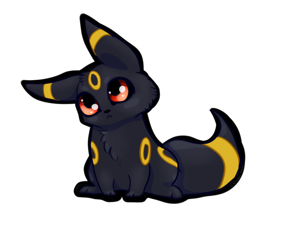 Transparent umbreon shadow. Chibi fan art by