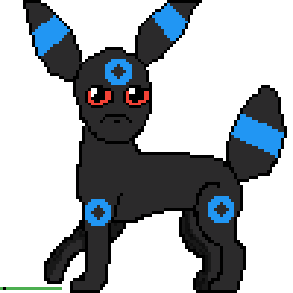 Transparent umbreon small. Pixilart shiny by pokemon