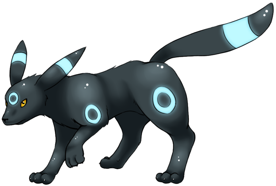 Transparent umbreon shiny pokemon. By lilly gerbil on