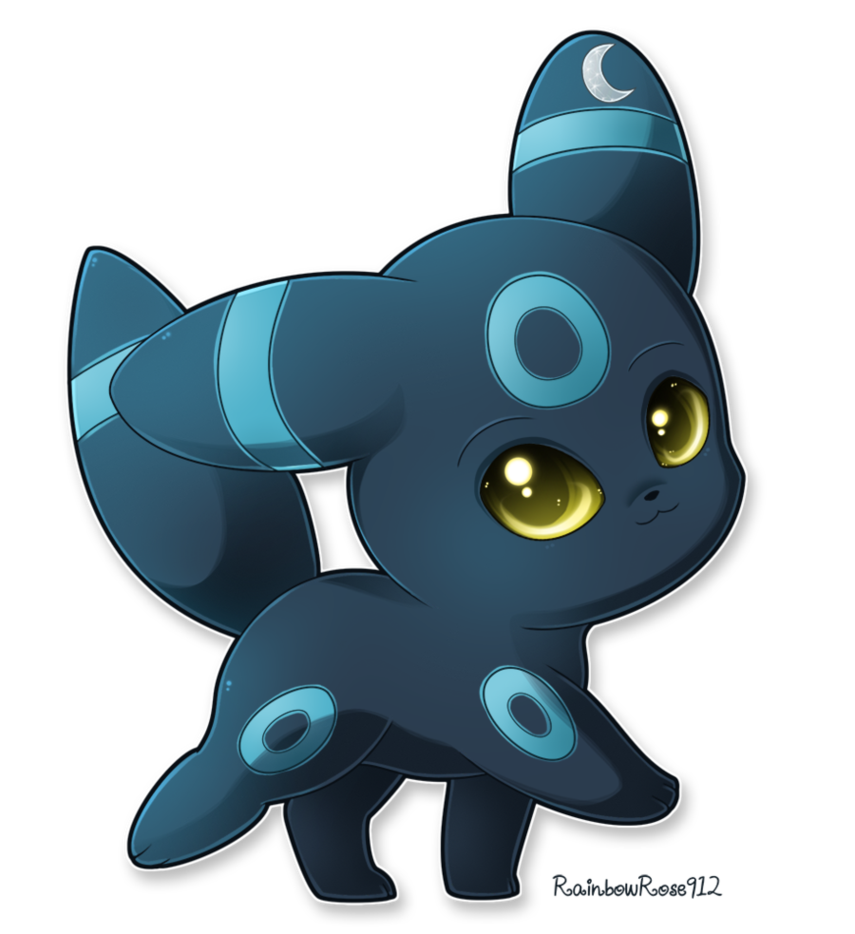Transparent umbreon small. Commission shiny by rainbowrose