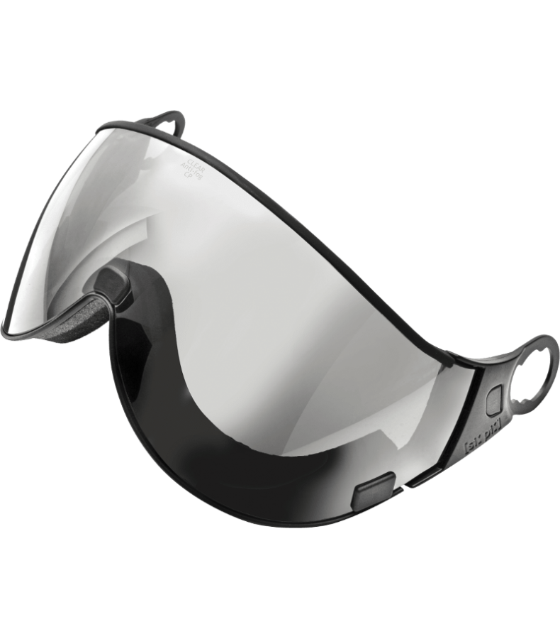 Transparent visor clear. Silver mirror new