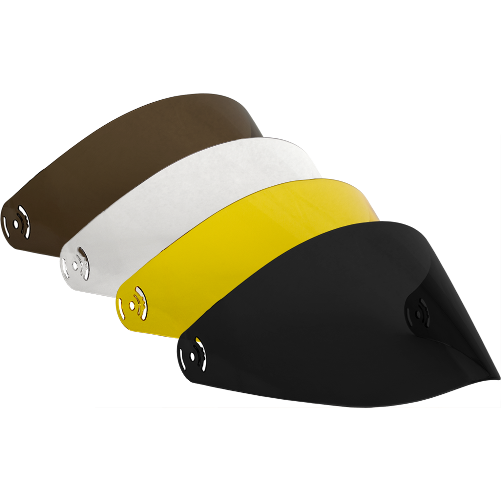 Transparent visor colorful. Predator replacement for dh
