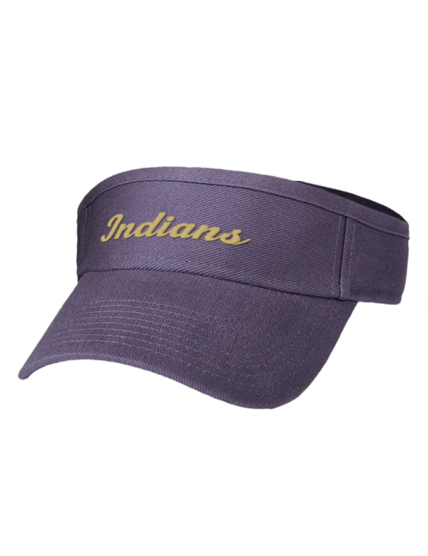 Transparent visor high fashion. Napa school indians hats