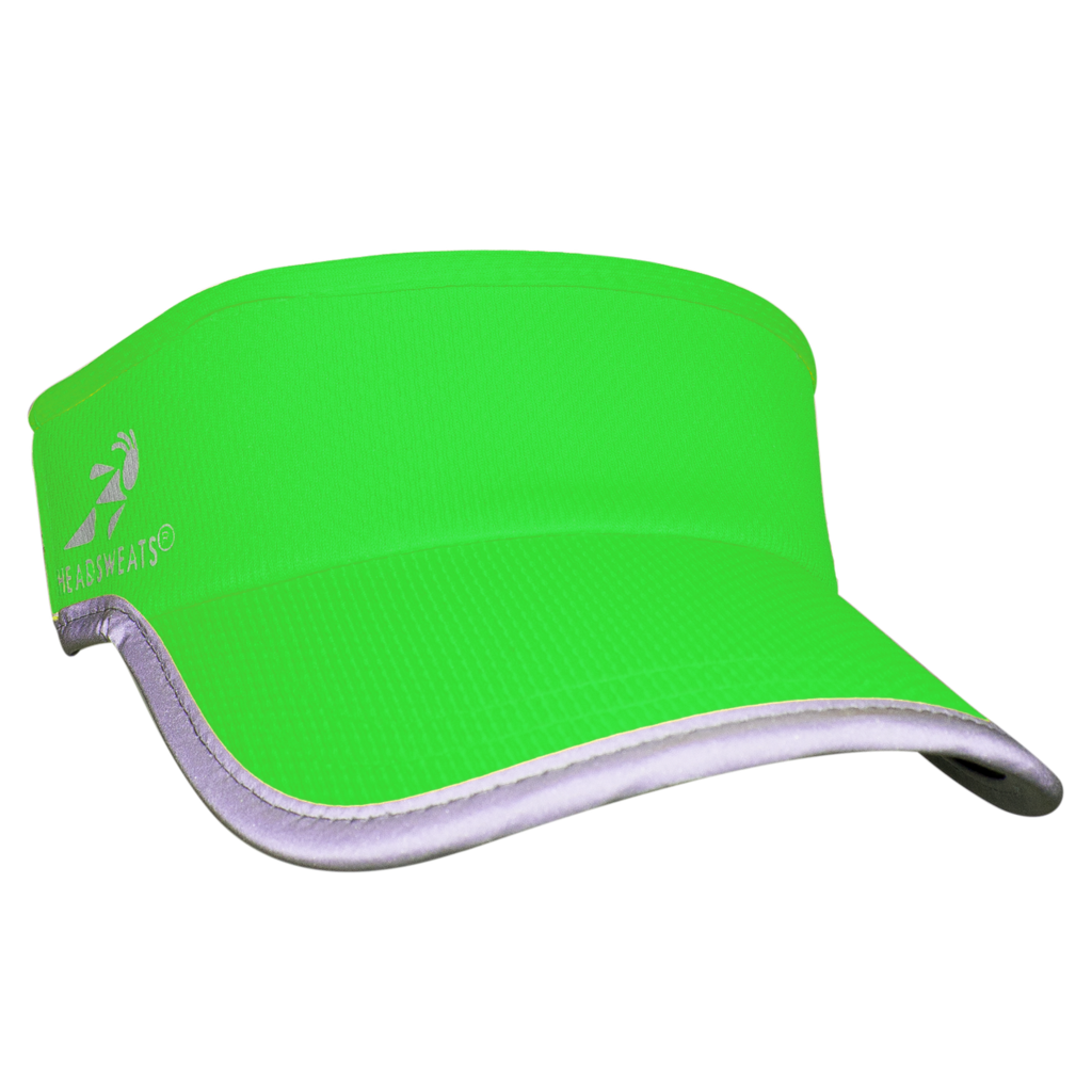 Transparent visor neon. Green reflective bondi band