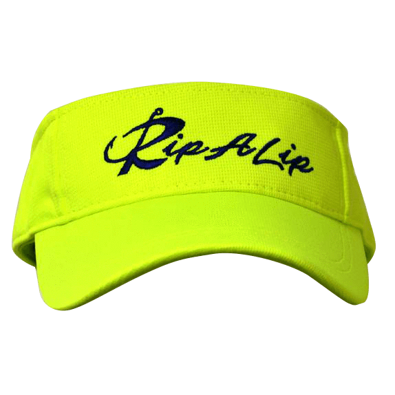 Transparent visor neon. Yellow navy performance rip