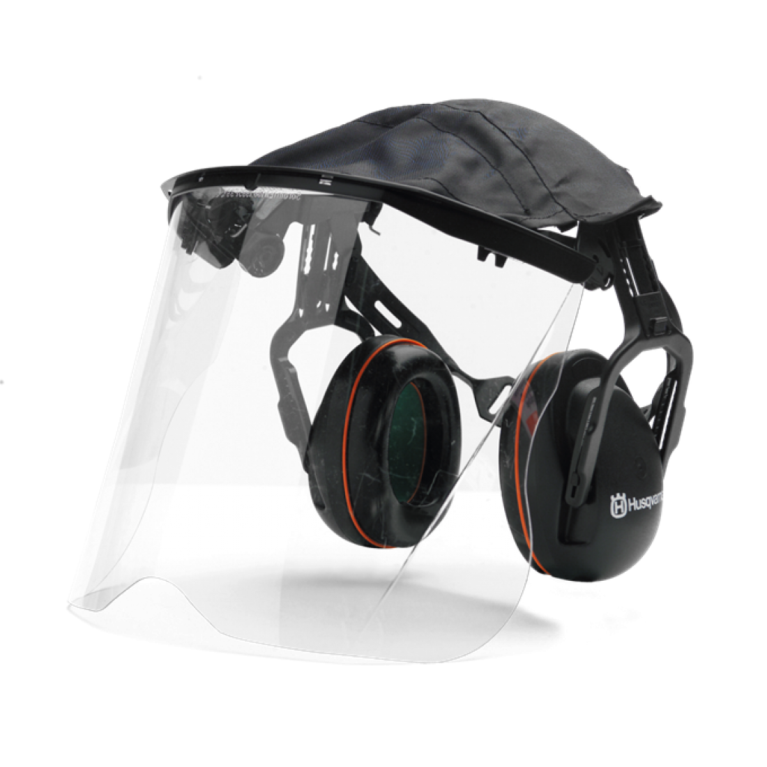 Transparent visors perspex. Husqvarna hearing protection with
