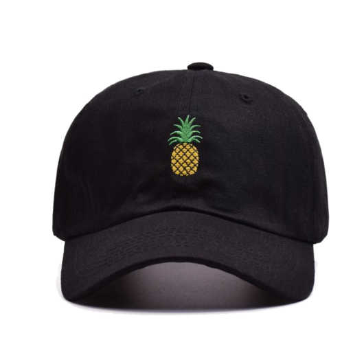 Transparent visor pineapple