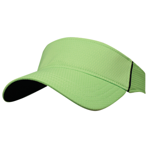 Transparent visor fashion. Textured performance vibrant