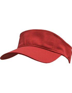 transparent visors red