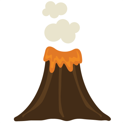 Transparent volcano. Collection of clipart
