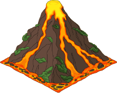 Transparent volcano active. Image deco png family