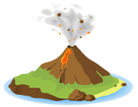 Transparent volcano animated. Guide content classconnect