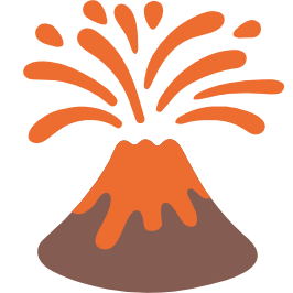 Emoji android . Volcano clipart clip art free library