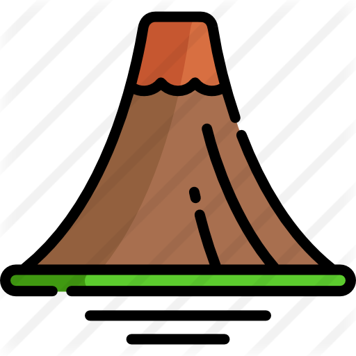 Transparent volcano flat. Free nature icons