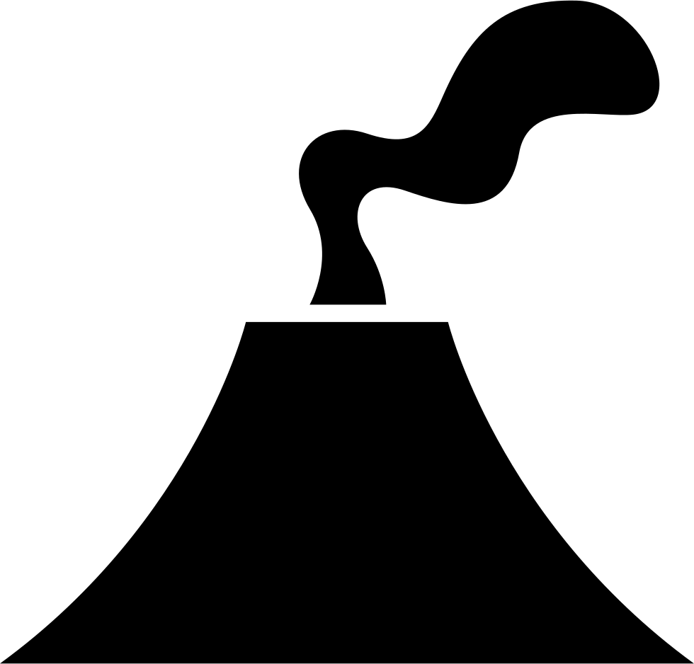 Transparent volcano svg. Erupting png icon free