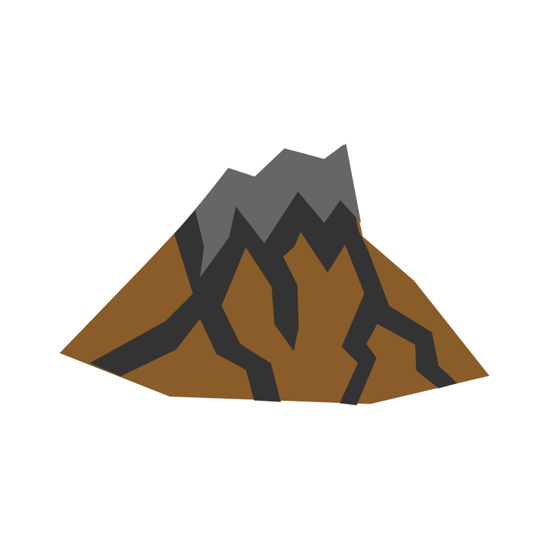 Transparent volcano svg. Picture stock free download