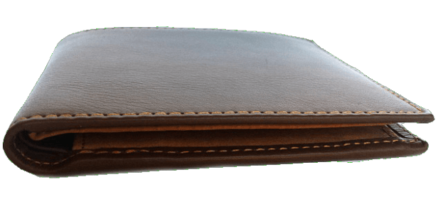 Brown leather web design. Wallet transparent background banner library library