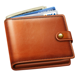 Transparent wallet gents. With money png pictures