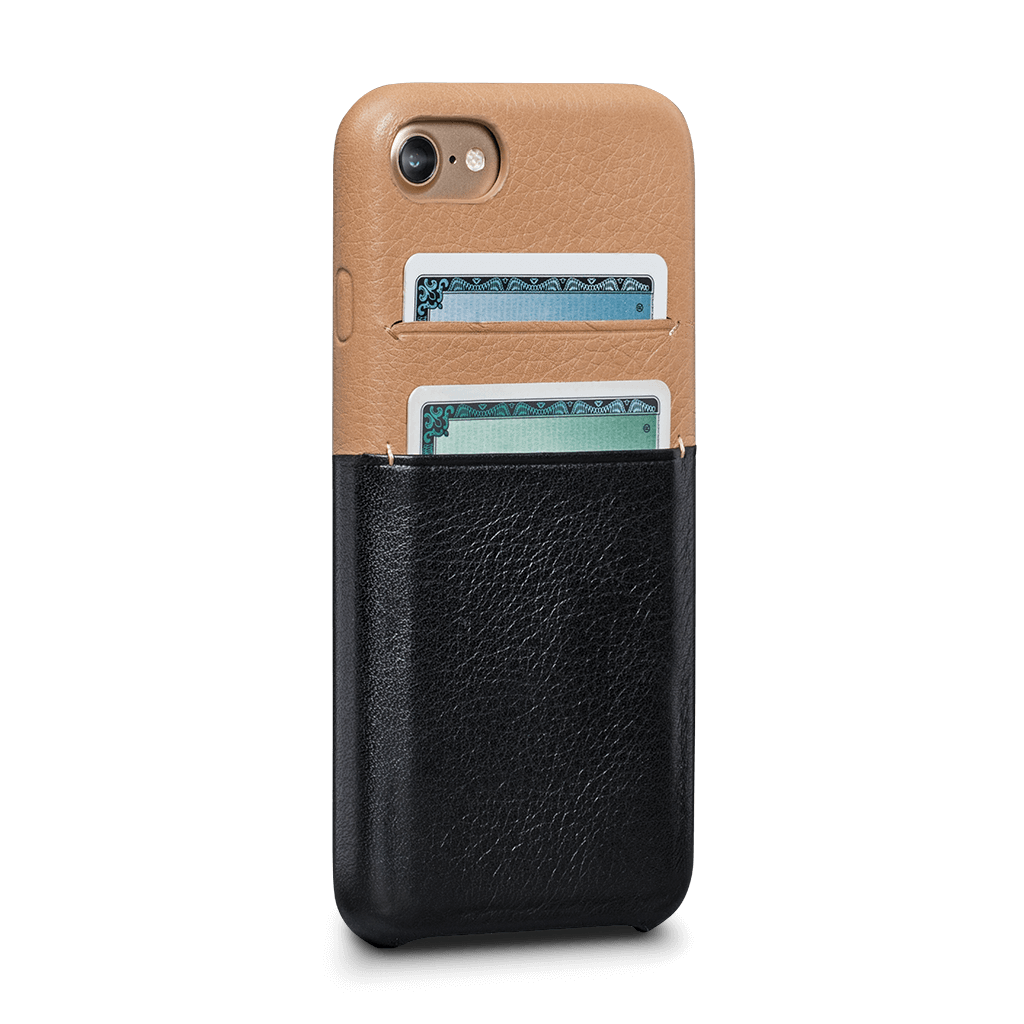 Transparent wallet iphone 7. Isa snap on leather