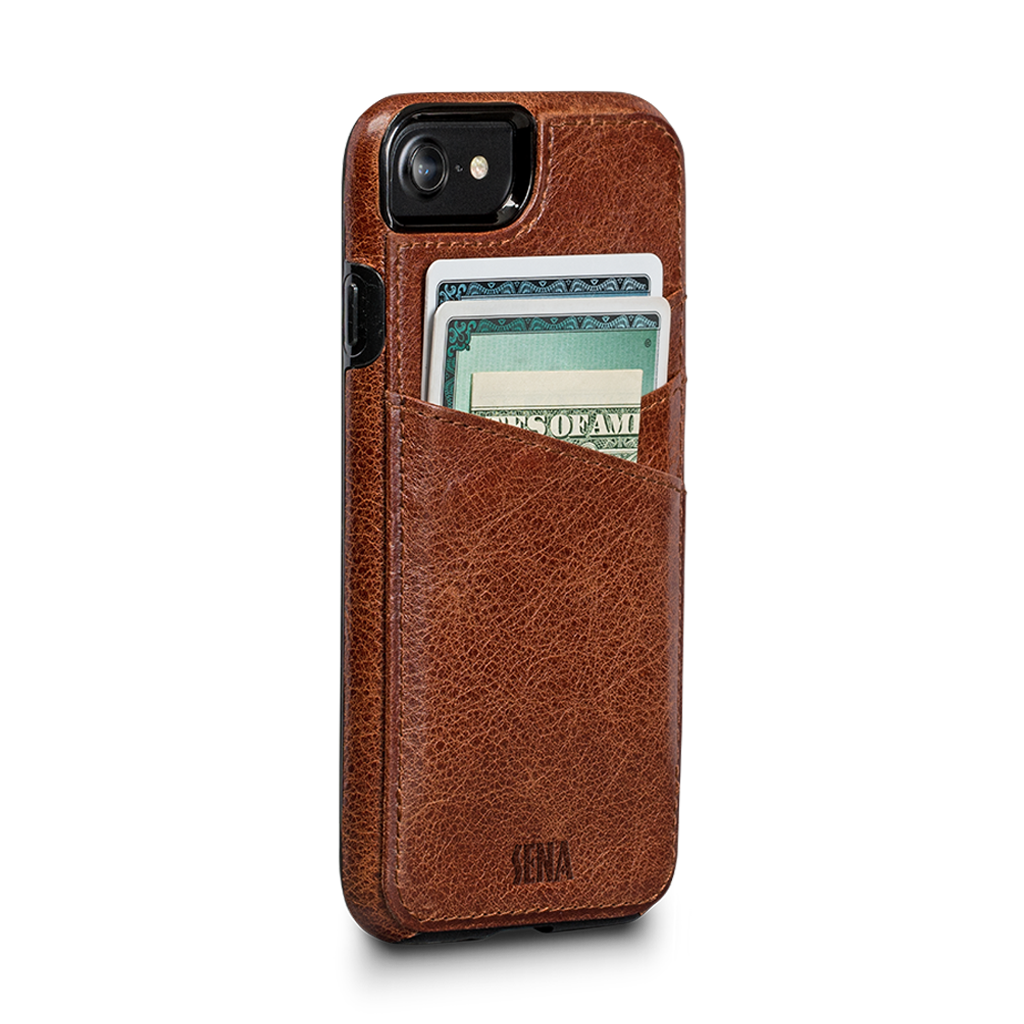 Transparent wallet iphone 7. Lugano leather case for