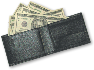 Transparent wallet money. With cash png free