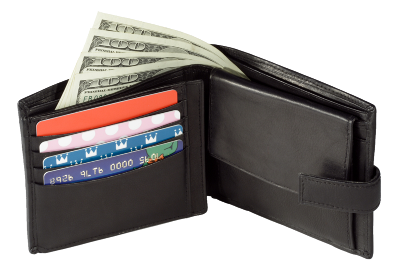 Transparent wallet money. Download free png with