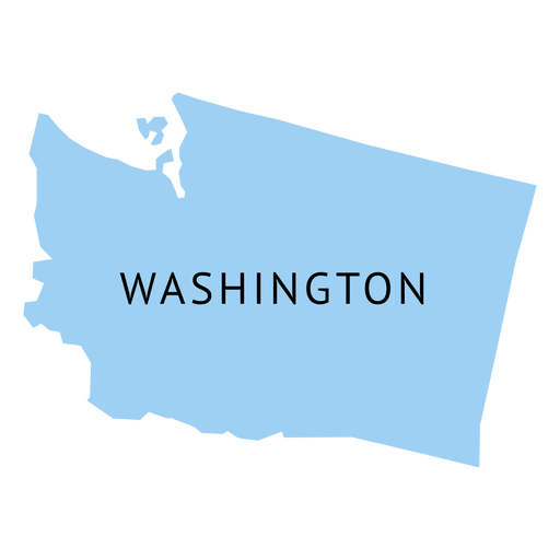 Transparent washington. State plain map png
