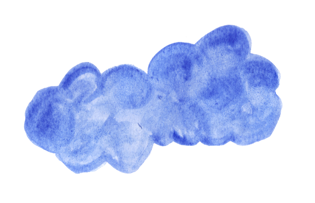 Transparent watercolor png. Blue clouds onlygfx