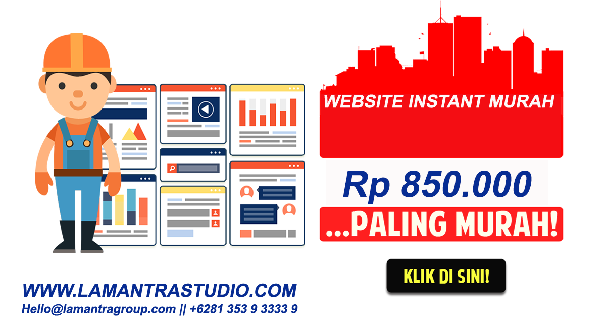 Transparent website instant. Murah rb lamantra studio