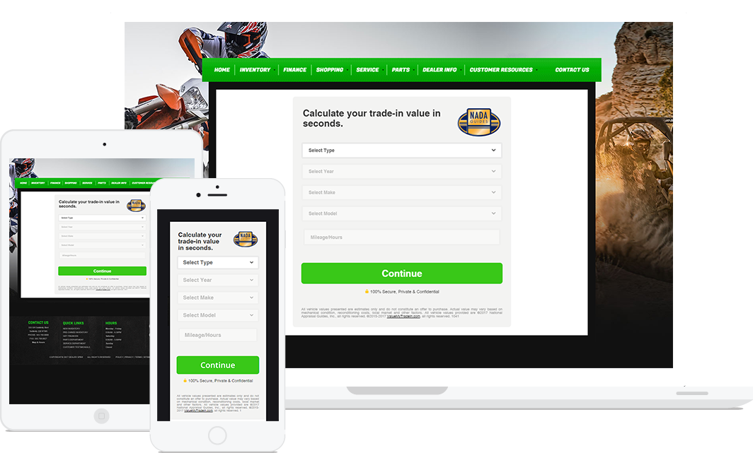 Transparent website instant. Powersports boat rv trade
