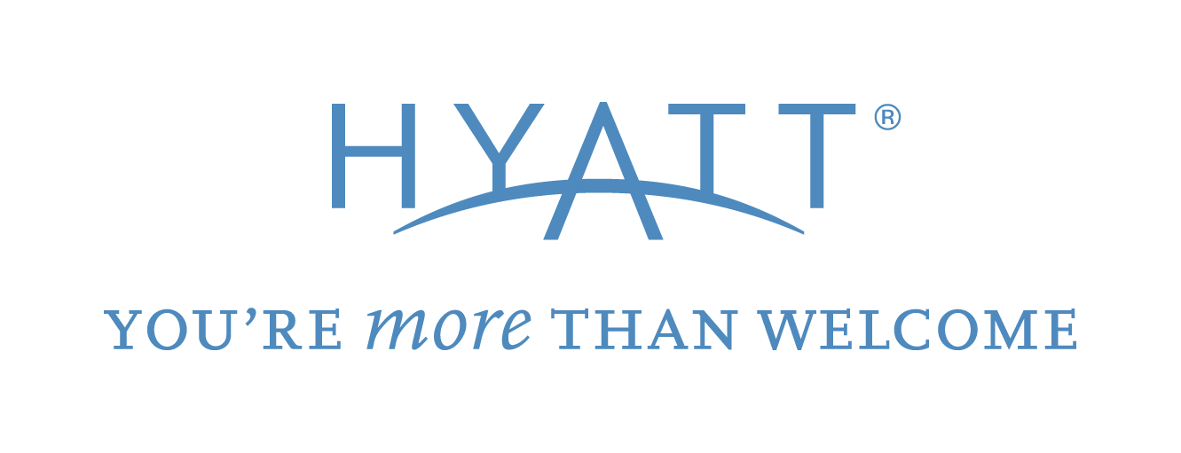 Transparent welcome blue. Hyatt logo with youre