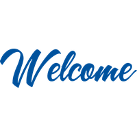 Transparent welcome blue. Hq png images pluspng