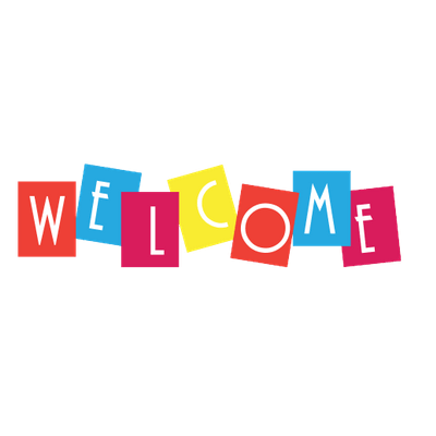 Transparent welcome blue. Colourful sign png stickpng