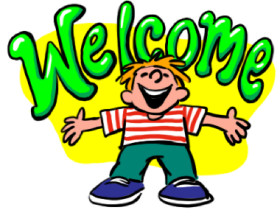 Transparent welcome gambar. Cropped kartun animasi png