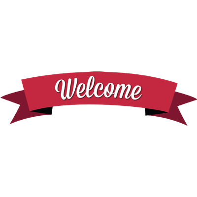 Transparent welcome simple. Red banner png stickpng