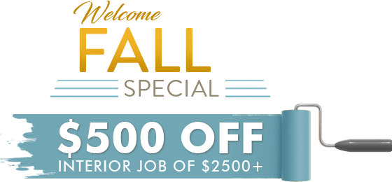 Transparent welcome special. Fall precision painting plus
