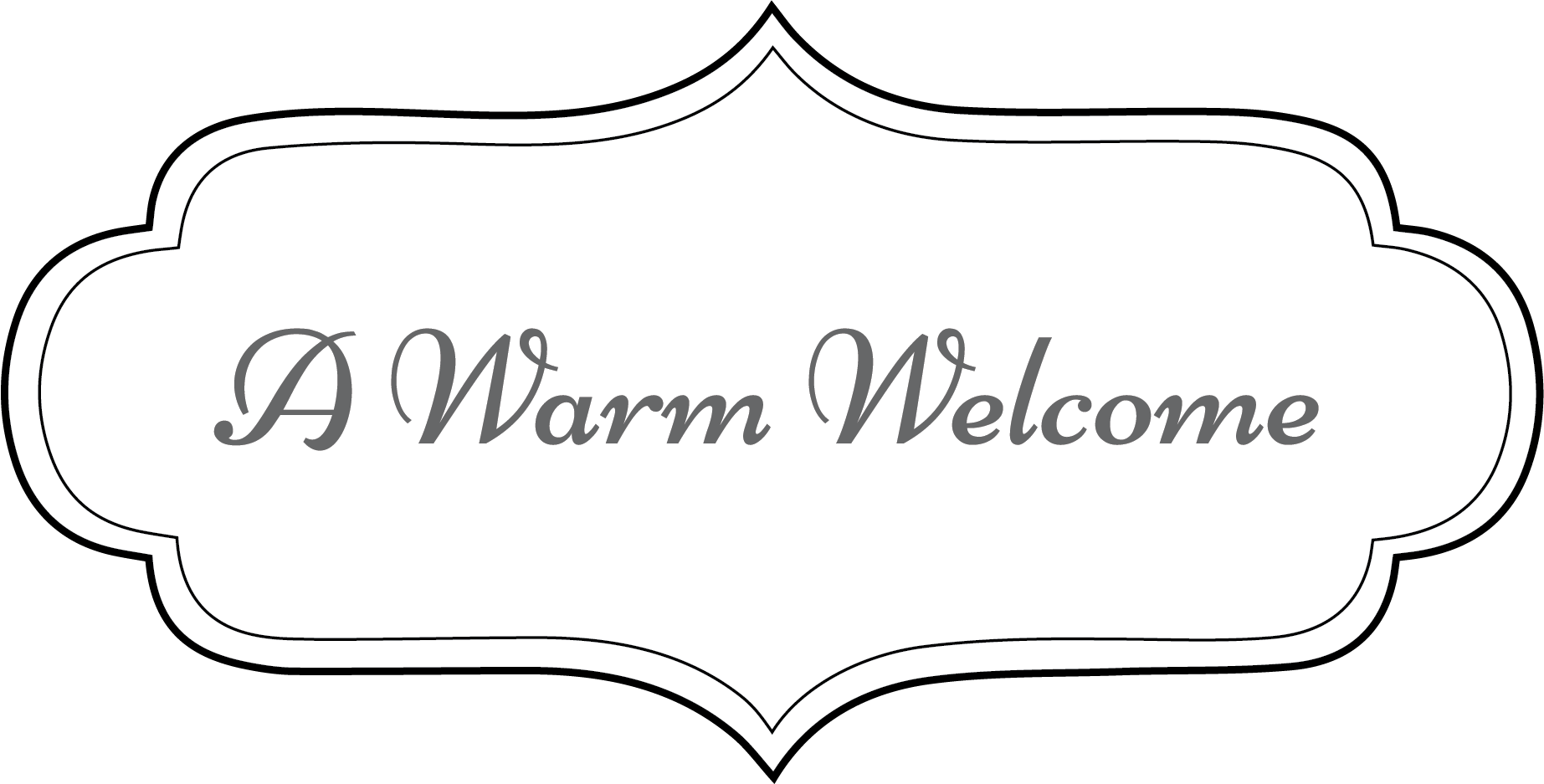 transparent welcome warm