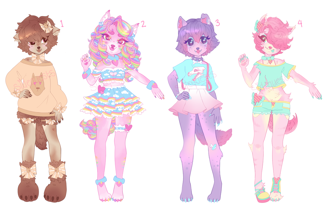 Transparent werewolf jeans. Pastel adopts closed by