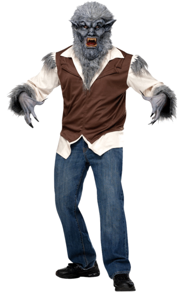 Transparent werewolf jeans. Wolfman costume costumes halloween