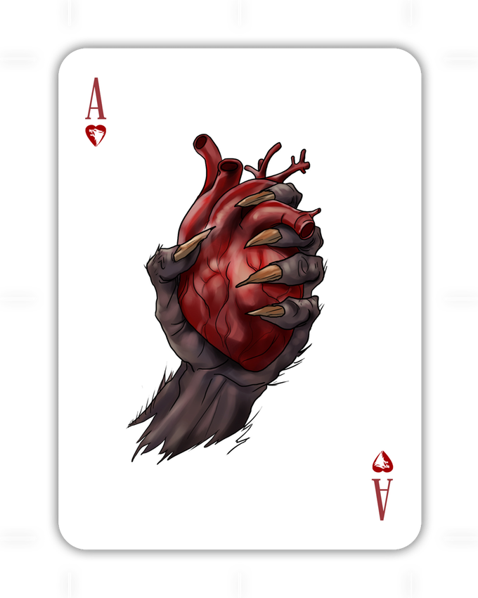 Transparent werewolf special edition. Horroar playing cards clear
