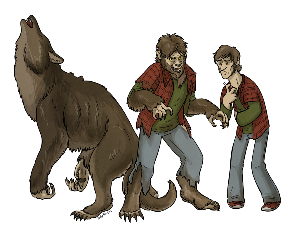 transparent werewolf flannel